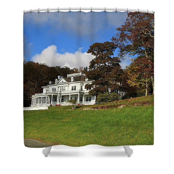 Moses Cone Flat Top Manor Shower Curtain