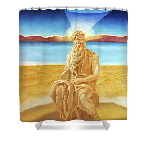 Moshe Rabbenu  Shower Curtain