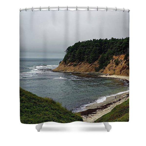 Moss Beach Shower Curtain