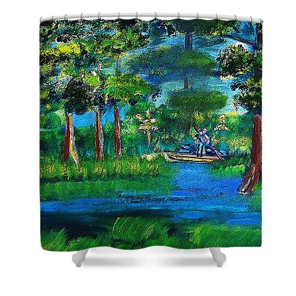 Moss Picker Impression Digital Shower Curtain