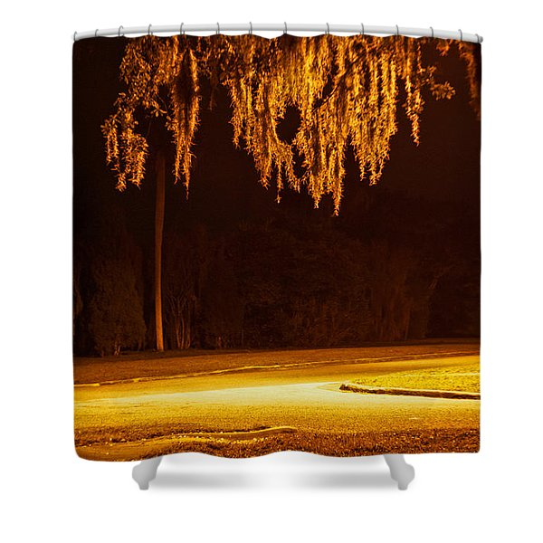 Mosssickles Gold Shower Curtain