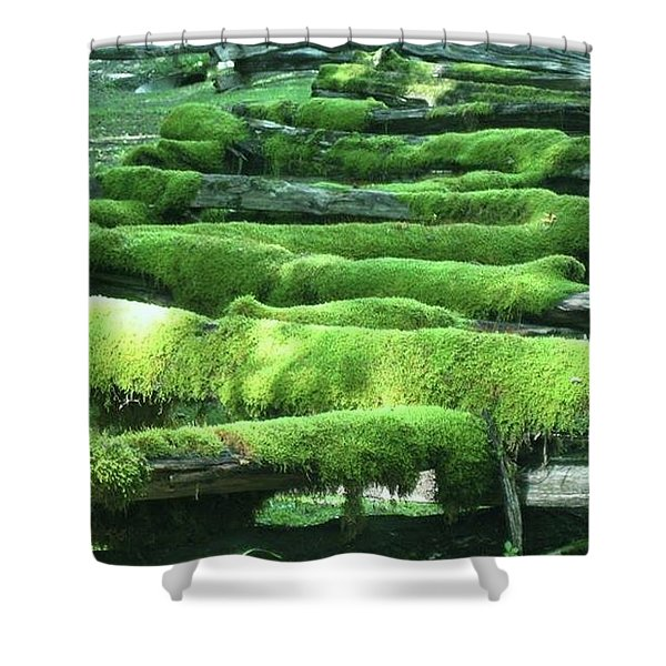 Mossy Fence Shower Curtain