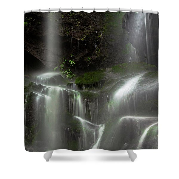 Mossy Waterfall Shower Curtain