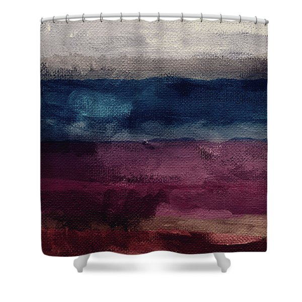 Most Of All- Abstract Art By Linda Woods Shower Curtain