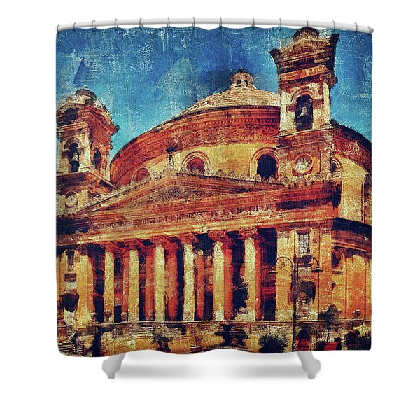 Mosta Church Shower Curtain