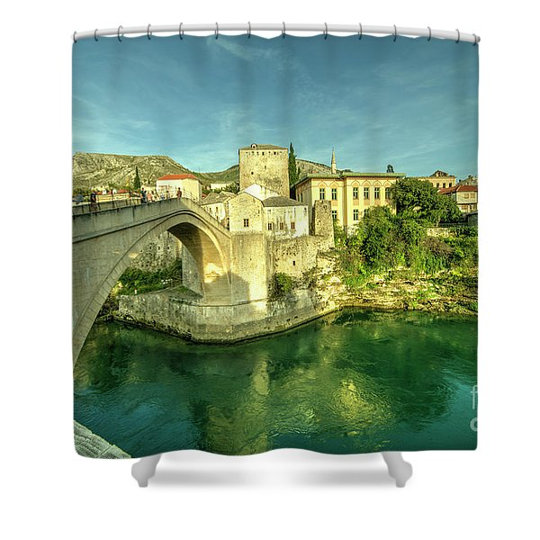 Mostar Bridge  Shower Curtain