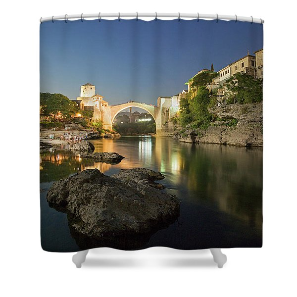 Mostar By Night Shower Curtain