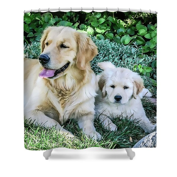 Mother And Pup Shower Curtain