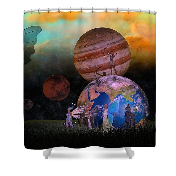 Mother Earth Series Plate6 Shower Curtain