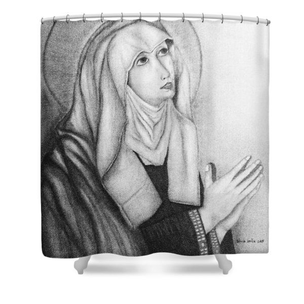 Mother Of Sorrows Version1 Shower Curtain