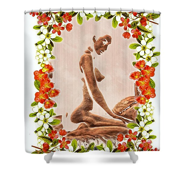 Mother Of The Flowers Shower Curtain
