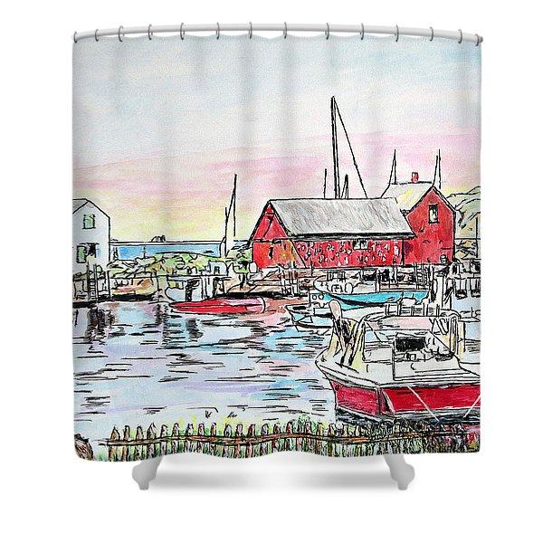 Motif #1 Rockport, Massachusetts Shower Curtain