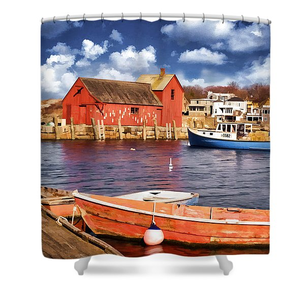 Motif Number One Shower Curtain