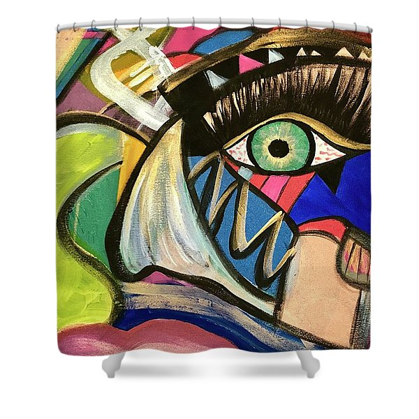 Motley Eye 3 Shower Curtain