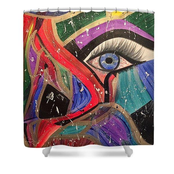 Motley Eye Shower Curtain