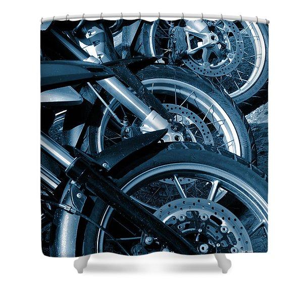 Motorbike Wheels Shower Curtain