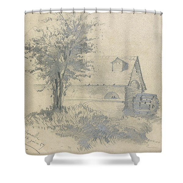 Moulin On The Lezarde Shower Curtain