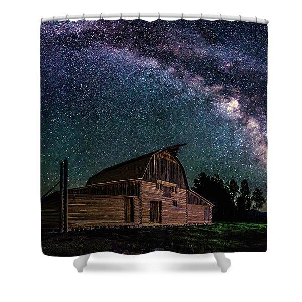 Moulton Barn Milky Way Shower Curtain