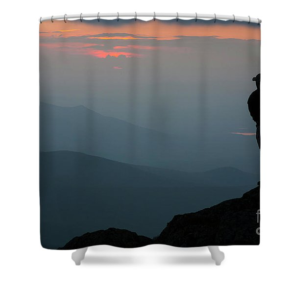 Mount Clay Sunset - White Mountains, New Hampshire Shower Curtain