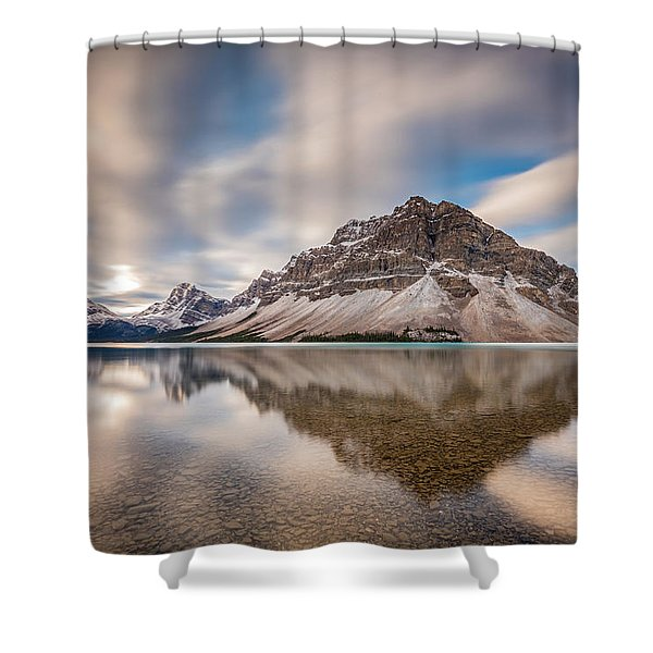 Mount Crowfoot Reflection Shower Curtain