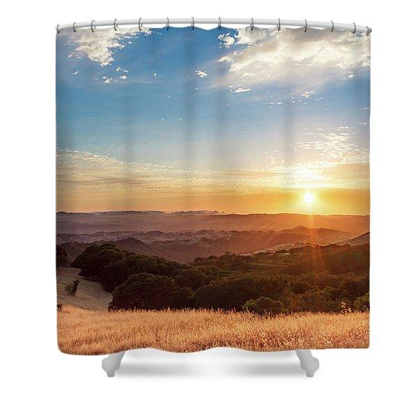Mount Diablo Sunset Shower Curtain