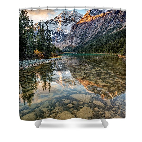 Mount Edith Cavell Sunrise Shower Curtain