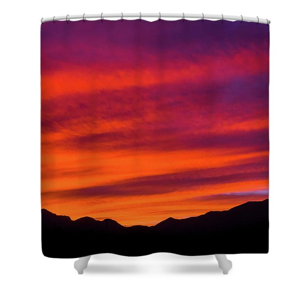 Mount Franklin Purple Sunset Shower Curtain