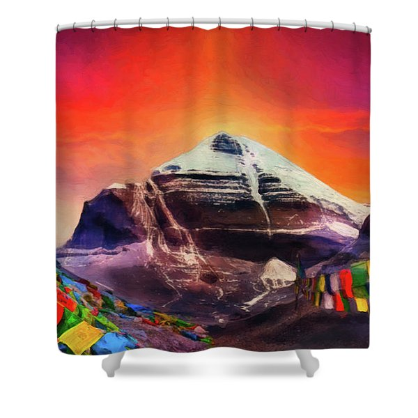 Mount Kailash - The Pillar Of The World Shower Curtain