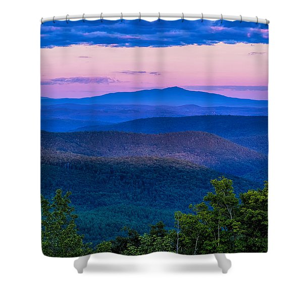 Shower Curtain featuring the photograph Mount Monadnock From Vermont by Tom Singleton