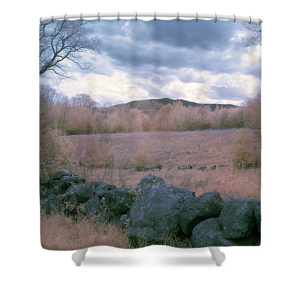 Mount Monadnock In Infrared Shower Curtain