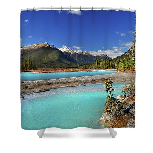Mount Saskatchewan Shower Curtain