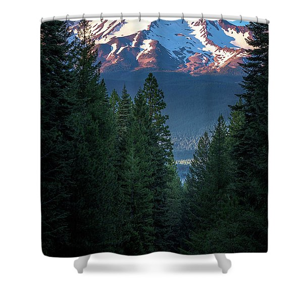 Mount Shasta - A Roadside View Shower Curtain