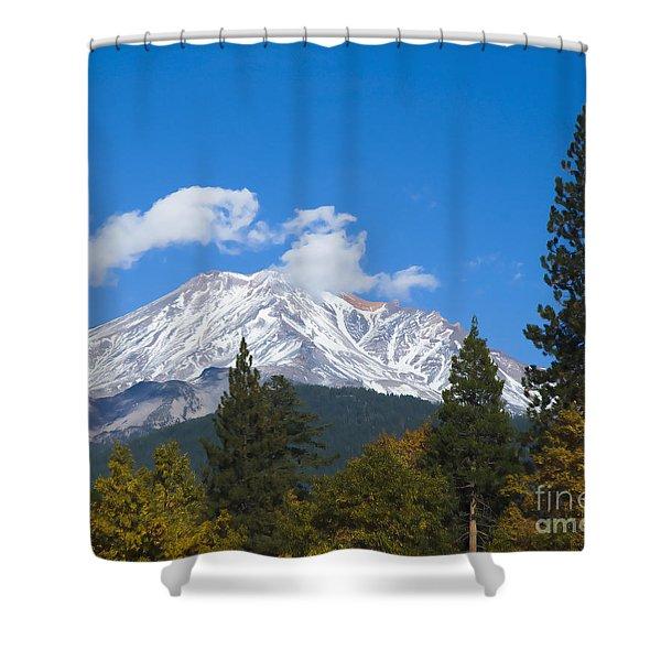 Mount Shasta California Shower Curtain