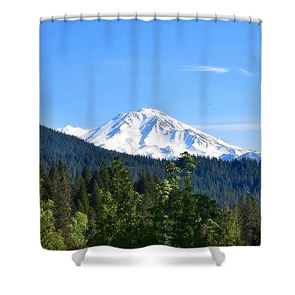 Mount Shasta Shower Curtain