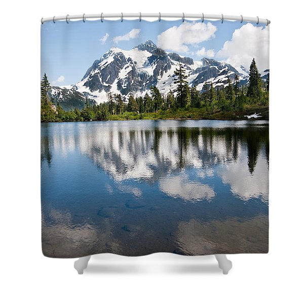 Mount Shuksan Reflected In Picture Lake Shower Curtain