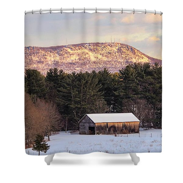 Shower Curtain featuring the photograph Mount Tom View From Southampton by Sven Kielhorn