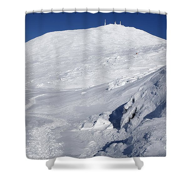 Shower Curtain featuring the photograph Mount Washington - White Mountain New Hampshire Usa Winter by Erin Paul Donovan