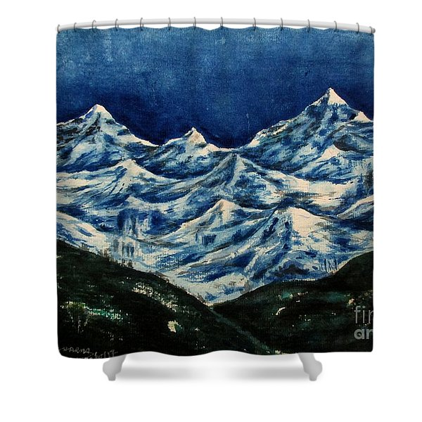 Mountain-2 Shower Curtain