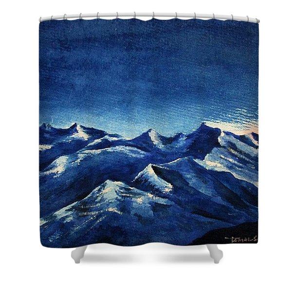 Mountain-4 Shower Curtain