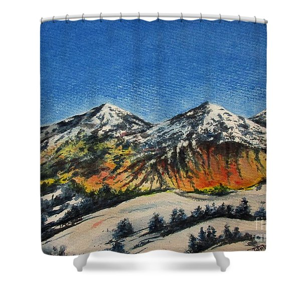 Mountain-5 Shower Curtain
