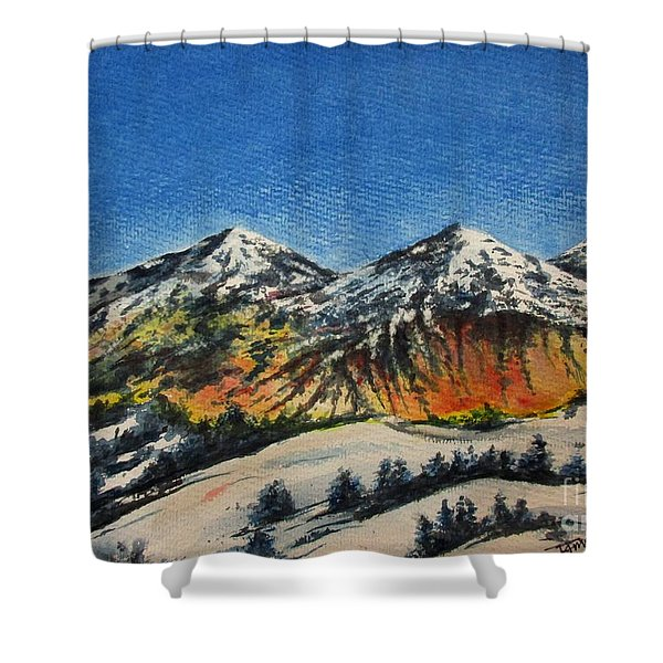 Mountain-5 Shower Curtain