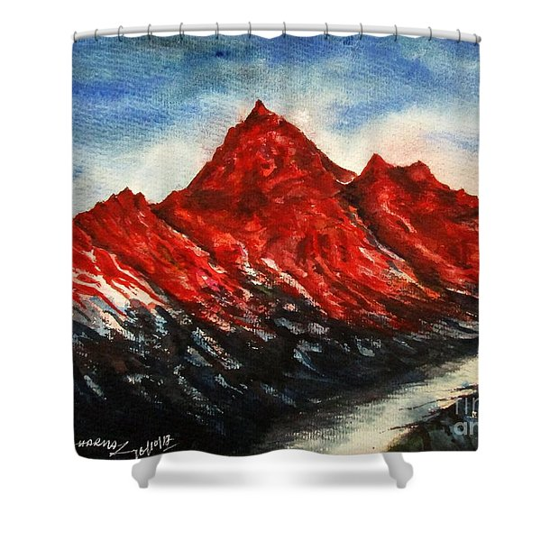 Mountain-7 Shower Curtain