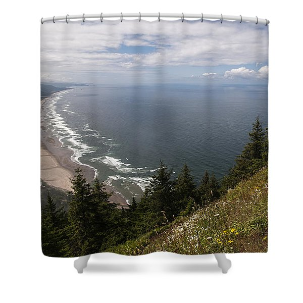 Mountain And Beach Shower Curtain