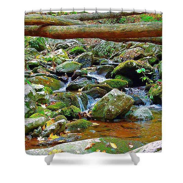 Mountain Appalachian Stream 2 Shower Curtain