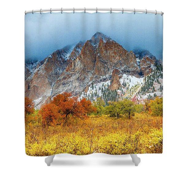 Mountain Autumn Color Shower Curtain