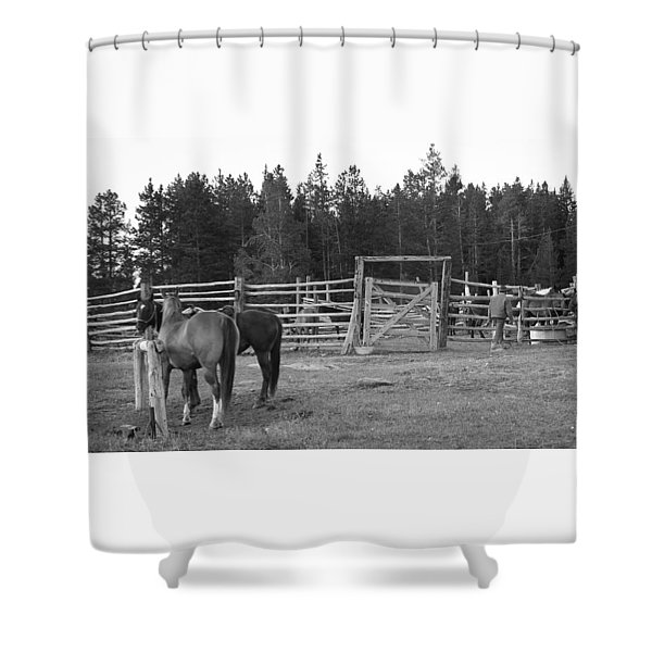 Mountain Corrals Shower Curtain