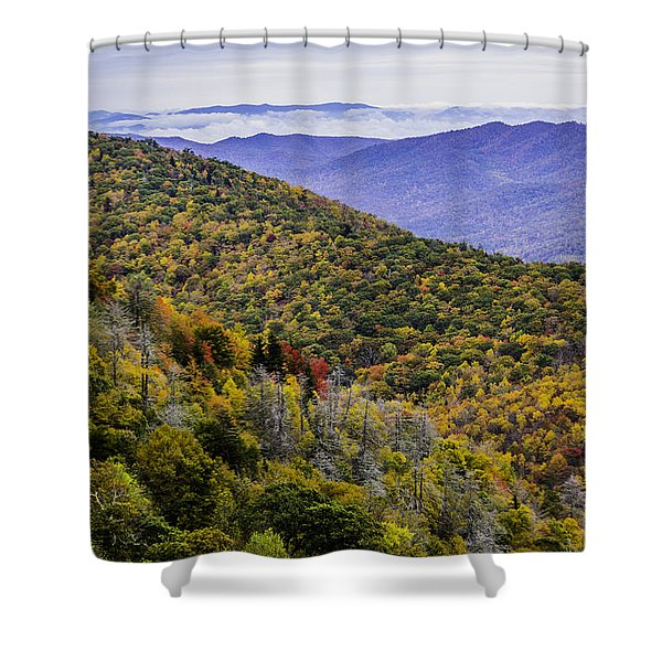 Mountain Fall Leaf Colors Shower Curtain