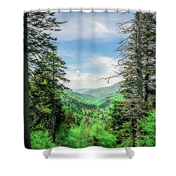 Mountain Forest Shower Curtain