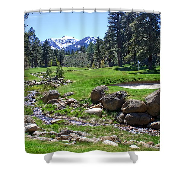 Mountain Golf Course Shower Curtain
