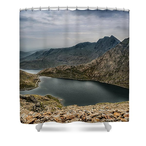 Shower Curtain featuring the photograph Mountain Hike by Nick Bywater